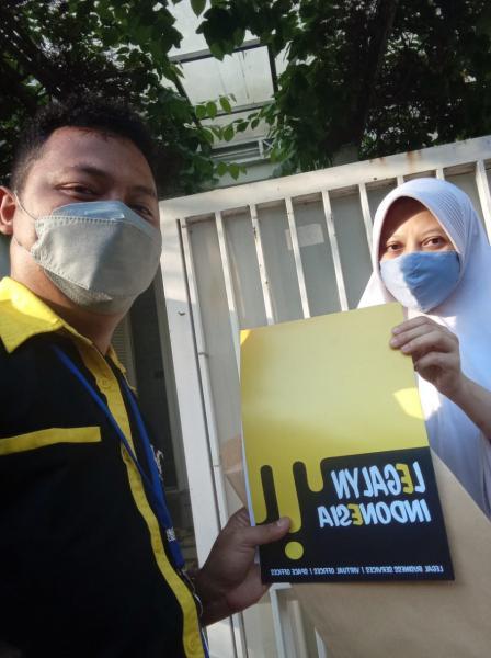 Serah terima dokumen ( PT EMBUN SELARAS INDONESIA )